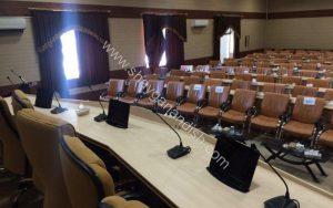 نصب 3 دستگاه مانیتور میز کنفرانس (CM05) در سازمان برنامه و بودجه شهرکرد